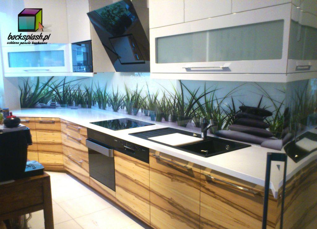 panele szklane do kuchni panele szklane trawa z kamieniami. Black Bedroom Furniture Sets. Home Design Ideas